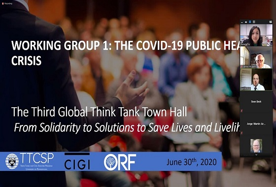OHKF invited to third Global Think Tank Town Hall to Save Lives and Livelihoods